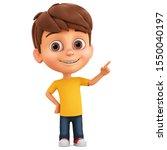 Cartoon Character Little Boy...