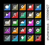 flat vector icons with long...