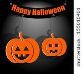 halloween background.two... | Shutterstock .eps vector #155010401