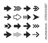 arrows icons set. arrowheads... | Shutterstock .eps vector #1550141087