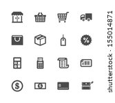 shopping icons | Shutterstock .eps vector #155014871