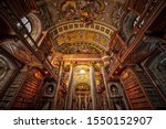 Old Library Of Vienna With The...