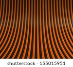 black and orange curved tubes | Shutterstock . vector #155015951