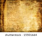 vintage background - ancient book' page - stock photo