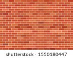 brown brick wall vector... | Shutterstock .eps vector #1550180447