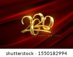 jewelry 2020 numbers. happy new ... | Shutterstock .eps vector #1550182994