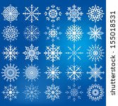 snowflake icon set  ... | Shutterstock .eps vector #155018531
