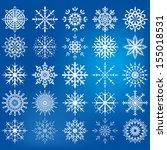 snowflake icon set  ... | Shutterstock .eps vector #155018531