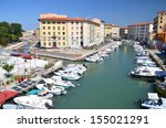 picturesque view on boats in... | Shutterstock . vector #155021291
