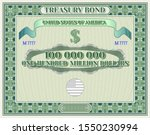 us treasury bond blank in green ... | Shutterstock .eps vector #1550230994