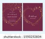 wedding invitation  thank you... | Shutterstock .eps vector #1550252834
