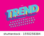 vector of stylized modern font... | Shutterstock .eps vector #1550258384