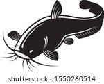 graphic black catfish on white... | Shutterstock .eps vector #1550260514