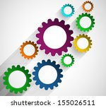 abstract global infinity... | Shutterstock .eps vector #155026511