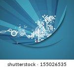 science futuristic internet... | Shutterstock .eps vector #155026535