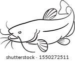 graphic catfish on white... | Shutterstock .eps vector #1550272511