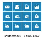 envelope icons on blue...