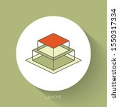 layers shape icon vector logo...