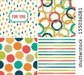 fun seamless hipster background ... | Shutterstock .eps vector #155036081