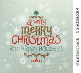 christmas greeting card. merry... | Shutterstock .eps vector #155036384