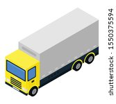 diesel truck icon. isometric of ... | Shutterstock .eps vector #1550375594