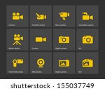 camera icons. see also vector...
