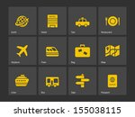 travel icons. see also vector... | Shutterstock . vector #155038115