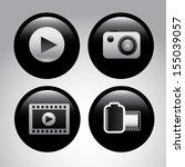 global marketing icons over... | Shutterstock .eps vector #155039057