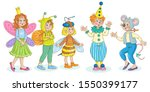 cute little children in... | Shutterstock .eps vector #1550399177
