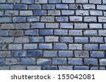 Blue Cobblestone Paved Street...