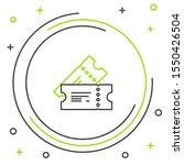black and green line cinema... | Shutterstock .eps vector #1550426504