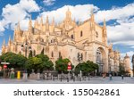 cathedral of segovia  spain.  | Shutterstock . vector #155042861