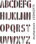 font creative.abc collection.... | Shutterstock .eps vector #155042975