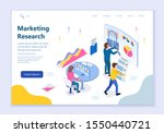 web template of marketing... | Shutterstock .eps vector #1550440721