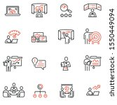vector set of linear icons... | Shutterstock .eps vector #1550449094