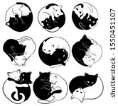 set of  yin yang cats.... | Shutterstock .eps vector #1550451107