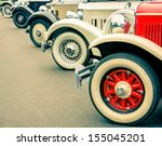 vintage car wheels   classic... | Shutterstock . vector #155045201
