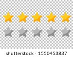 five rating stars icon for...