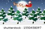 scene with santa and reindeer...   Shutterstock .eps vector #1550458097
