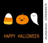 candy corn  pumpkin  ghost... | Shutterstock . vector #1550469674