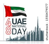 48 uae national day banner with ...   Shutterstock .eps vector #1550479577