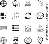 network vector icon set such as ...