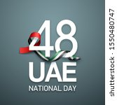 48 national day banner with... | Shutterstock .eps vector #1550480747