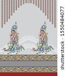 red paisley border pattern on... | Shutterstock .eps vector #1550484077