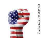 fist of usa  united states of... | Shutterstock . vector #155049041