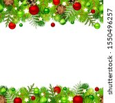 vector christmas horizontal... | Shutterstock .eps vector #1550496257