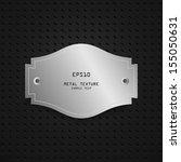 vintage metal label background  ... | Shutterstock .eps vector #155050631