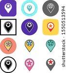 set of 12 starred location... | Shutterstock .eps vector #1550513594
