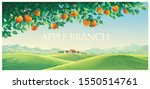 rural landscape with mountains... | Shutterstock .eps vector #1550514761