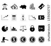finance icons. vector... | Shutterstock .eps vector #155053757